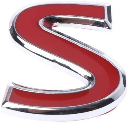 x xotic tech 3D Metal Red Letter S Badge Rear Fender Trunk Emblem Sticker for Infiniti Q50