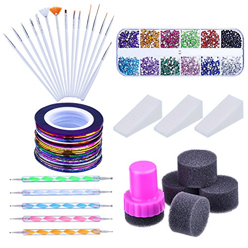 Mudder Rhinestones Assorted Striping Gradient