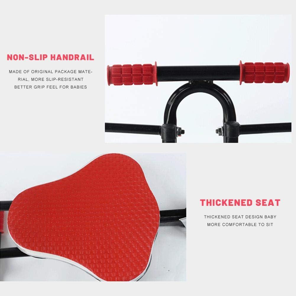 c/ómodos asientos delanteros y traseros Asiento de bicicleta para ni/ños de 2 a 5 a/ños cojines gruesos asiento de monta/ña fijo c/ómodo y seguro para ni/ños peque/ños Negro