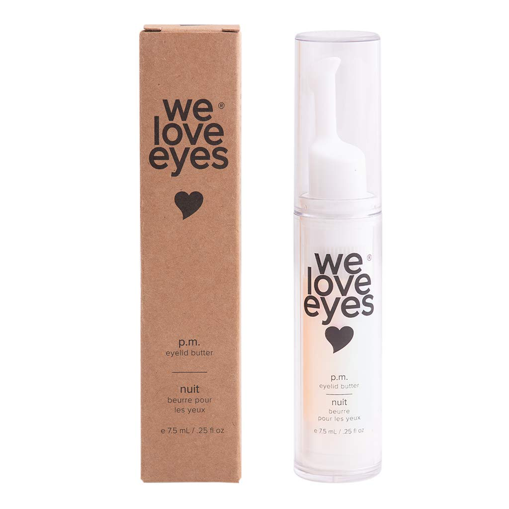 All Natural PM Eyelid Butter - We Love Eyes - Reduces appearance of fine lines, dark circles. Feels soothing, protective, moisturizing, brightening under your eyes. - 7.5ml by We Love Eyes