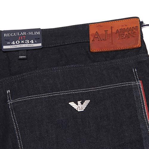 0698X Men Blu Scuro Trouser J17 Jeans Armani Jeans Denim uomo Dark Blue zPOzdq