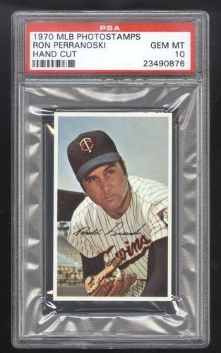 1970 MLB Photostamps Ron Perranoski PSA 10 GEM MINT Cert 23490876 POP 1/4 (Cert Gem)