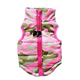 Glumes Clearance Cat Dog Doggie Down Jacket Coat Rainbow Printed Pet Clothes Warm Clothing for Small Medium Large Dogs Winter Cold Weather Windproof Ideal