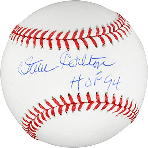 Steve Carlton Philadelphia Phillies Autographed Baseball with HOF 94 Inscription - Fanatics Authentic Certified (Carlton Signed Steve Baseball)
