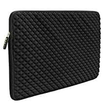 Laptop Sleeve, Evecase 17 to 17.3 inch Laptop Universal Diamond Foam Splash & Shock Resistant Neoprene Sleeve Case Bag - Black