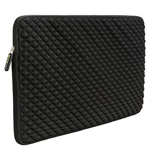 12.9 - 13.3 Inch Laptop/Tablet Sleeve Evecase Diamond Foam Splash Shock Resistant Neoprene Sleeve Bag for for Notebook Chromebook, Ultrabook, Macbook Pro/Air 13.3 / iPad Pro 12.9 Tablet - Black