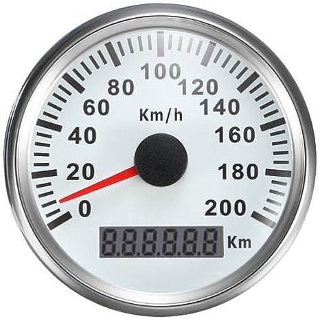 Eling Universal Gps Tacho Kilometerzähler 200km H Tachometer Für Auto Boot Yacht Schiff Mit Hintergrundbeleuchtung 85mm 12v 24v Auto
