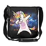 Crossbody Messenger Bag Hip Hop Unicorn Rainbow Shoulder Tote Sling Postman Bags One Size