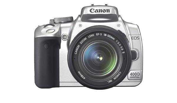 Canon EOS 400D SLR-cámara Digital (10 Mpx) en Plata Incl EF-S18-55 ...