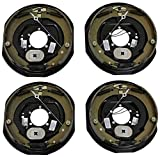 "Four 12""x2"" Electric Brake Trailer Self Adjusting Backing Plates 2 Left 2 Right"
