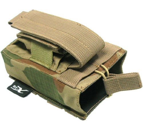 BE-X Kombi-Magazintasche für CQB, MOLLE, für je 1 G36 u. Pistolen Magazin - rooivalk