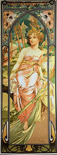 Hudemas Gobelin Tapestry Needlepoint Kit Mucha-Morning Awakening 25x70 cm. (9.8