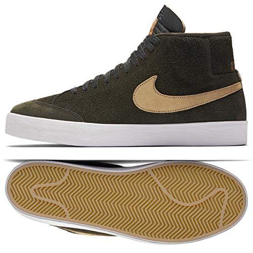 - Nike SB Zoom Blazer Mid QS We Club 58 AH6158-369 Sequoia/Gold Men's Shoes (13)