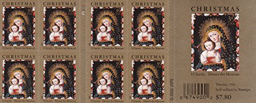 US Stamp 2006 Christmas Madonna Booklet Pane of 20 Stamps -