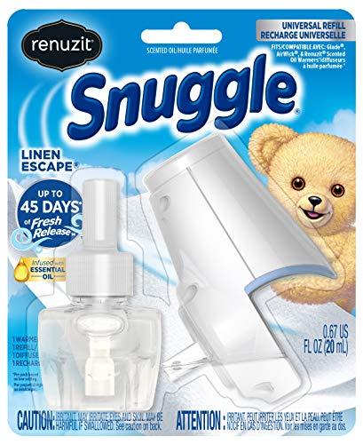 (Renuzit Snuggle Scented Oil Refill Air Freshener & Plugin Warmer, Linen Escape)