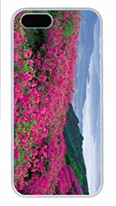 Hot iPhone 5S Customized Unique Print Design Pink Wildflowers New Fashion PC White iPhone 5/5S Cases