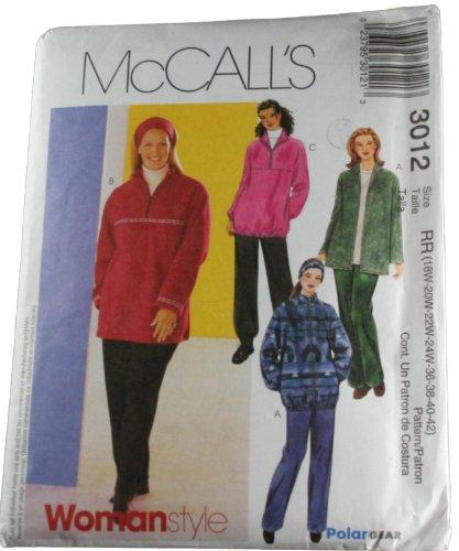 McCall's 3012 Pattern Women's Unlined Ja - 18w Head Shopping Results