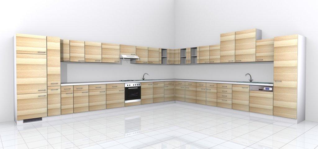 Küchen Unterschrank 50 cm ohne Arbeitsplatte Akazie- Arezzo ...