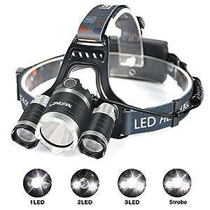 Headlamp, Mifine Super Bright Headlamp Waterproof Headlamp Flashlight for Outdoor Sports from Mifine
