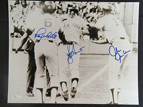 Bucky Dent Chris Chambliss Roy White Signed Auto Autograph 11x14 Photo JSA (White Jersey Roy)