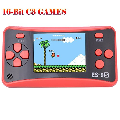 "Retro Handheld Game Console Gaming Player System Birthday Gift for Kids Built in 168 Classic Nostalgia Games with 2.5"" LCD Screen Arcade"
