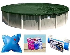 ripstopper redonda por encima del suelo piscina invierno cubierta 15años de garantía (24pies)