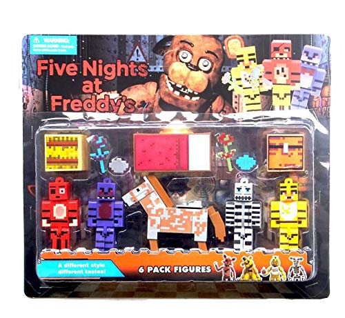 VIET FG OPP Bag 5Pcs/Set Five Nights at Freddy's 4 FNAF Foxy Chica Bonnie Freddy Action Figures Children Toy]()