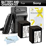 2 Pk Battery And Charger Kit For Sony HDR-CX580V,HDR-PJ580V,HDR-PJ260V,HDR-PJ200,HDR-CX200,HDR-CX260V,HDR-PJ710V,HDR-PJ760V,HDR-CX760V,HDR-XR260V,HDR-TD20V,HDR-CX190,HDR-CX210 Camcorder Includes 2 Replacement (2300Mah) NP-FV70 Batteries + Ac/Dc Charger +