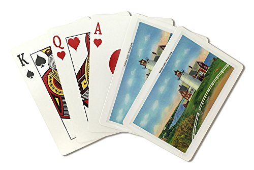 Cape Cod, Massachusetts - View of The Nobska Lighthouse, Woods Hole (Playing Card Deck - 52 Card Poker Size with Jokers)