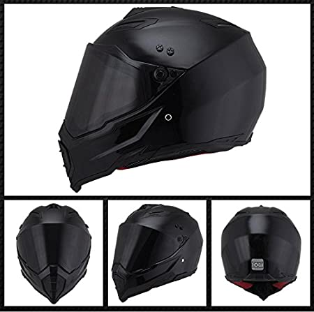 M, Black+Silver Woljay Off Road Helm Motocross-Helm Motorradhelm Motocrosshelme Fahrrad ATV