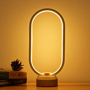 LONRISWAY LED Wood Desk Lamp, Bedroom Bedside Night Light, Dimmable Led Lighting, Creative Home Decor, Unique House warmging Gift