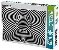 Kristallkugel in 3D 1000 Teile Puzzle quer: Metallische Linien und Glaskorpus...