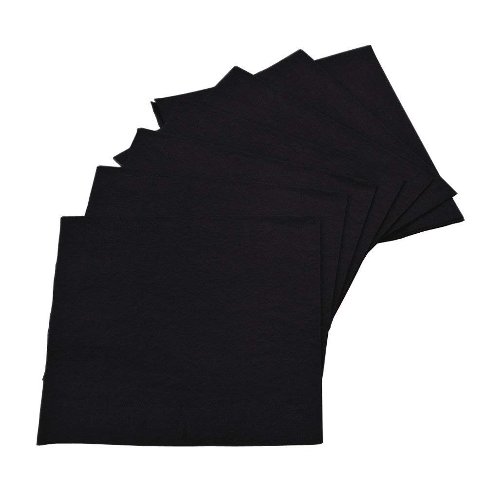 Perfectware 2Ply Black Paper Cocktail Beverage Napkins 1000ct by Perfectware