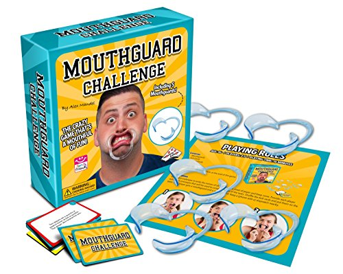 Mouthguard Challenge Game - Family and Party Game that's a Mouthful of Fun with Game Cards and More