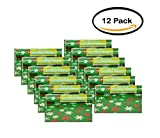 PACK OF 12 - Snowflakes Holiday Wrapping Paper