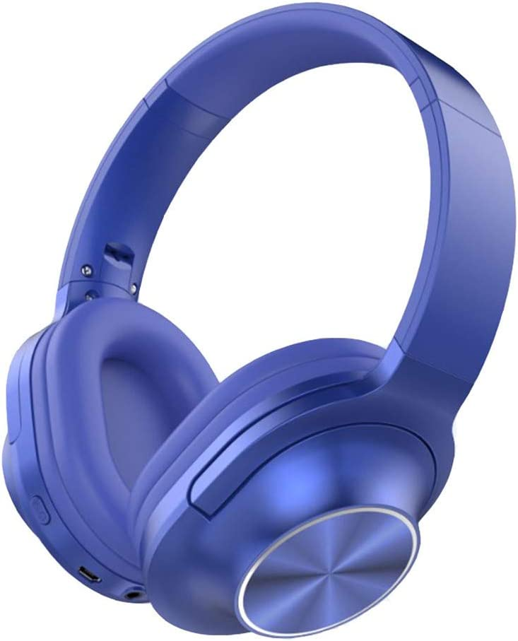 Lecc Auriculares inalámbricos con Bluetooth, micrófono Plegable en la Oreja, Auriculares estéreo portátiles con reducción de Ruido, para tabletas, PC, Smart TV, Mp3,B: Amazon.es: Hogar