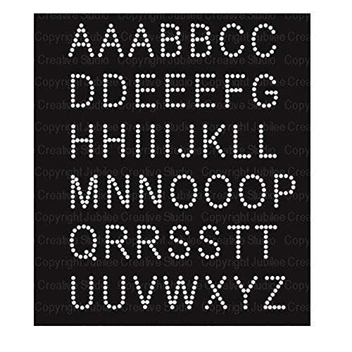 Basic Alphabet Iron On Rhinestone Crystal Transfer by JCS Rhinestones