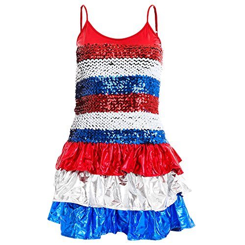 4th Of July Dance Costumes - Alexandra Collection Womens Sequin Patriotic 4th