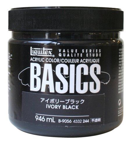 Liquitex BASICS Acrylic Paint 32-oz jar, Ivory (Liquitex Basics Series)