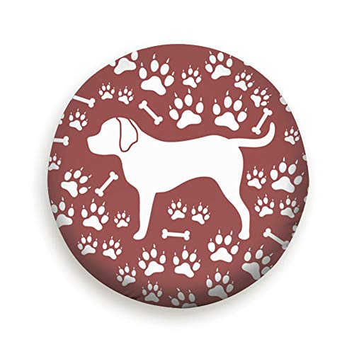 Cool pillow Tire Cover Nice Rottweiler Silhouette On Animals Wildlife Dog Polyester Universal Spare Wheel Tire Cover Wheel Covers Jeep Trailer Rv SUV Truck Camper Travel Trailer Accessories