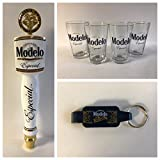 Modelo Especial Draft Kit - 4 16oz Glasses - 1 Tap Handle - 1 Keychain Bottle Opener