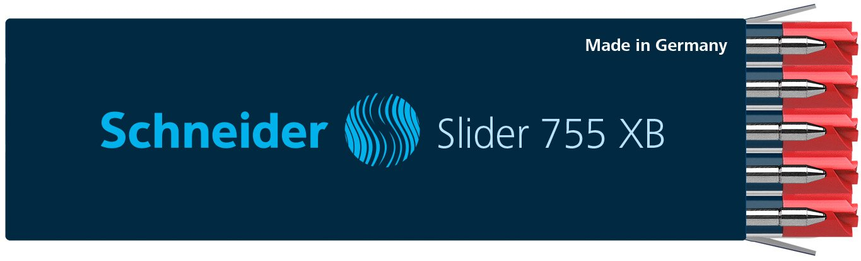 10 x Schneider Slider 755 XB Ballpoint Refill