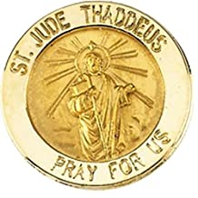 St. Jude Lapel Pin in 14k Yellow Gold