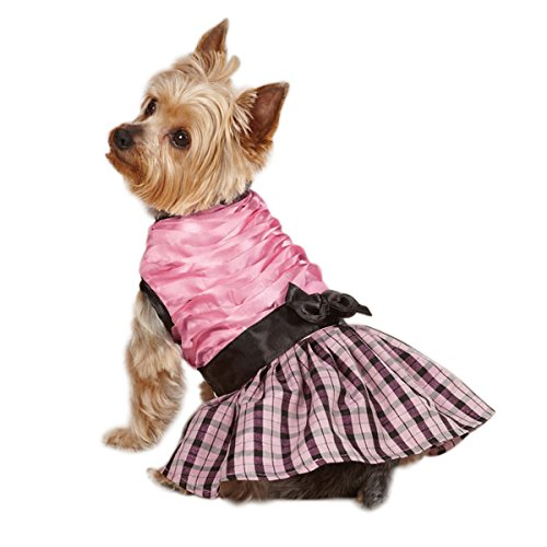 S East Side Collection Polyester The First Lady Ruffle Taffeta Dog Dress, Small, 12-Inch, Pink