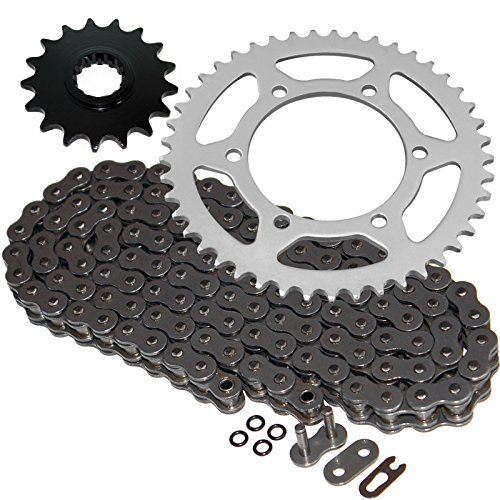 Caltric Steel O-Ring Drive Chain & Sprockets Kit Fits YAMAHA R1 YZFR1 YZF-R1 2004 2005