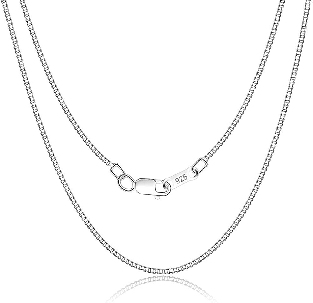 Long Wavy Italian Sterling Chain  Sterling Silver Necklace  925
