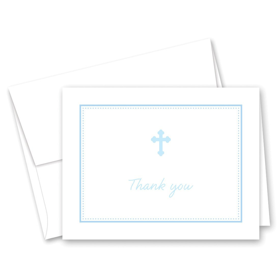 50 Cnt Blue Cross Baby Thank You Cards - Boy