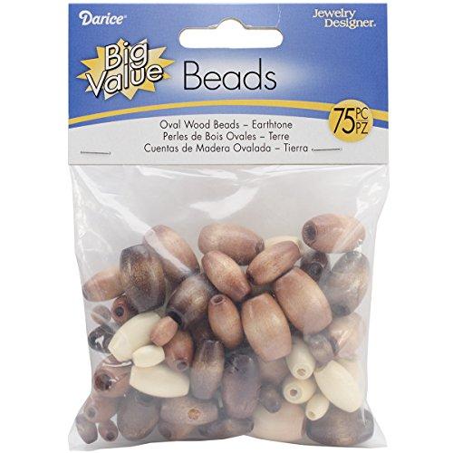Darice(R) Oval Wood Beads - (Wood Oval Beads)