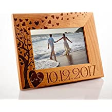 Lily's Atelier Personalized, Wedding, Valentines Day , Horizontal and Vertical Wooden Picture Photo Frame, 4x6 | 5x7 | 8x10