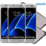 5Pack Galaxy S7 Edge Clear Case, ibarbe Slim Fit Heavy Duty Protection Scratch Resistant TPU Bumper Case Cover for Samsung Galaxy S7 edge not for S7